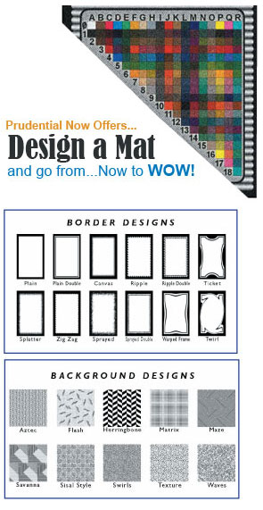 Prudential Now Offers... Design a Custom Commercial Mat
